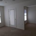 Patio door in the living room
